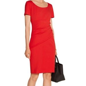 "DVF ""Bevina"" Sheath Dress Tomato Red Size 10"
